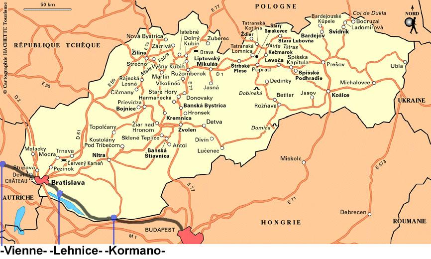 Carte Routiere Slovaquie | tonaartsenfotografie
