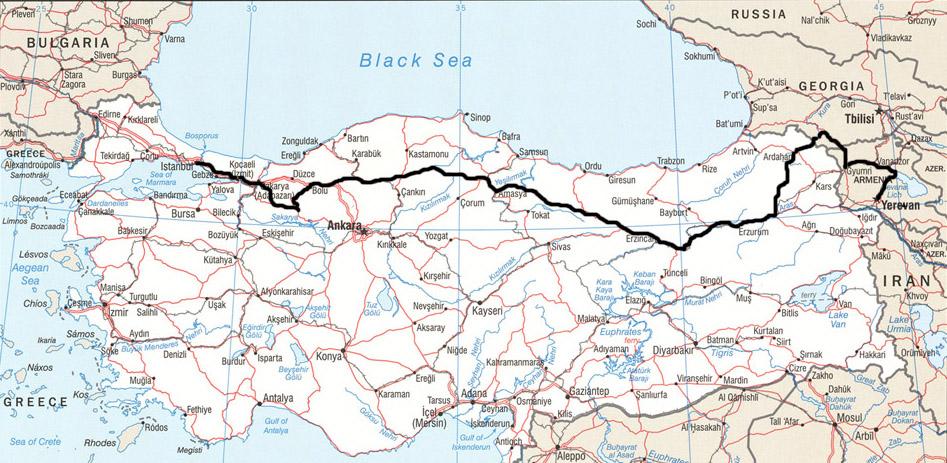 route de la soie turquie